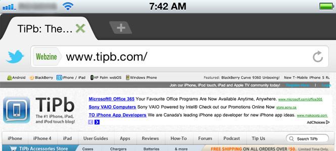 Dolphin Browser tüm yetenekleriyle iOS' da
