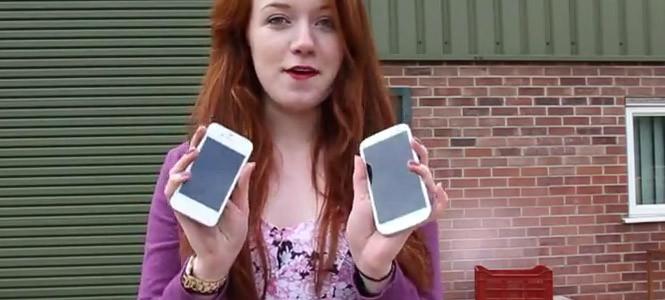 Galaxy S 3 ve iPhone 4S sağlamlık testi! (video)