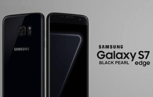 Galaxy S7 edge siyah inci rengi Türkiye'de!