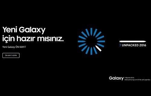 Samsung etkinliği canlı anlatım