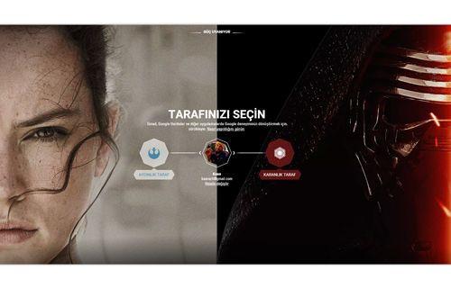 Google Star Wars Sitesi İle Tarafınızı Seçin
