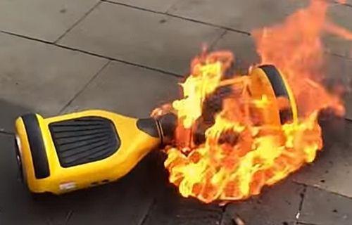 Patlayan hoverboard, tüm mağazayı yaktı!