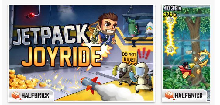 iOS için ücretsiz Jetpack Joyride oyunu!