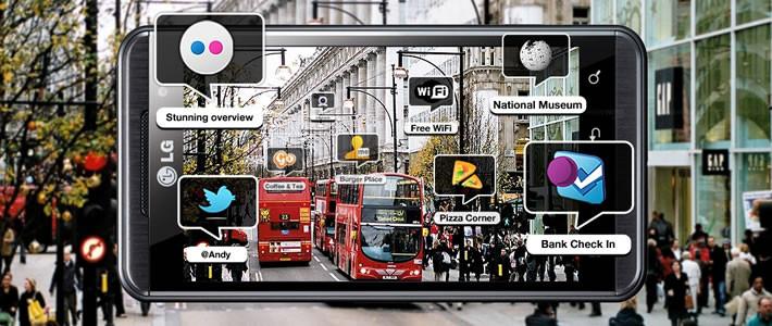 LG Android tabanlı ve 3 boyutlu akıllı telefonunu tanıttı.