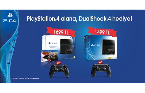 Playstation 4 Alana DualShock 4 Hediye Edilecek