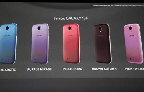 Samsung Galaxy S4'e 5 yeni renk geliyor