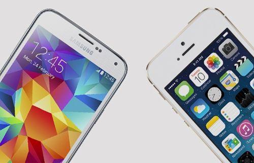 Galaxy S5'in iPhone 5S'e göre daha iyi sekiz özelliği!
