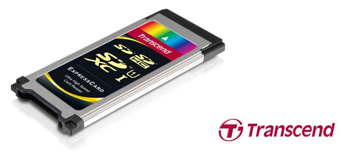 Transcend ExpressCard uyumlu yeni kart okuyu