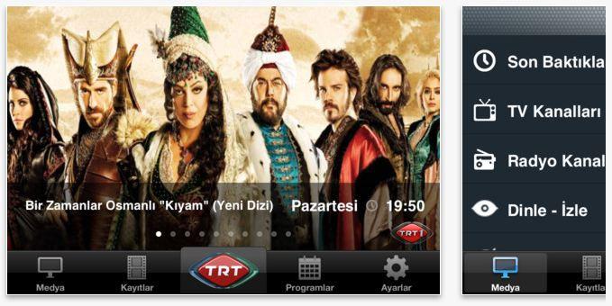 TRT Televizyon iPad-iPhone uygulaması yayında!