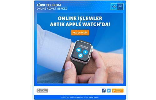 Türk Telekom Online İşlemler Uygulaması Apple Watch'ta