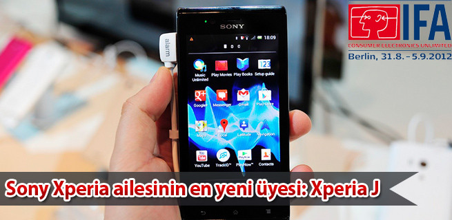 'IFA 2012': 'Sony Xperia J' tanıtıldı!