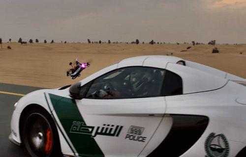 McLaren ve drone'un nefes kesen kapışması