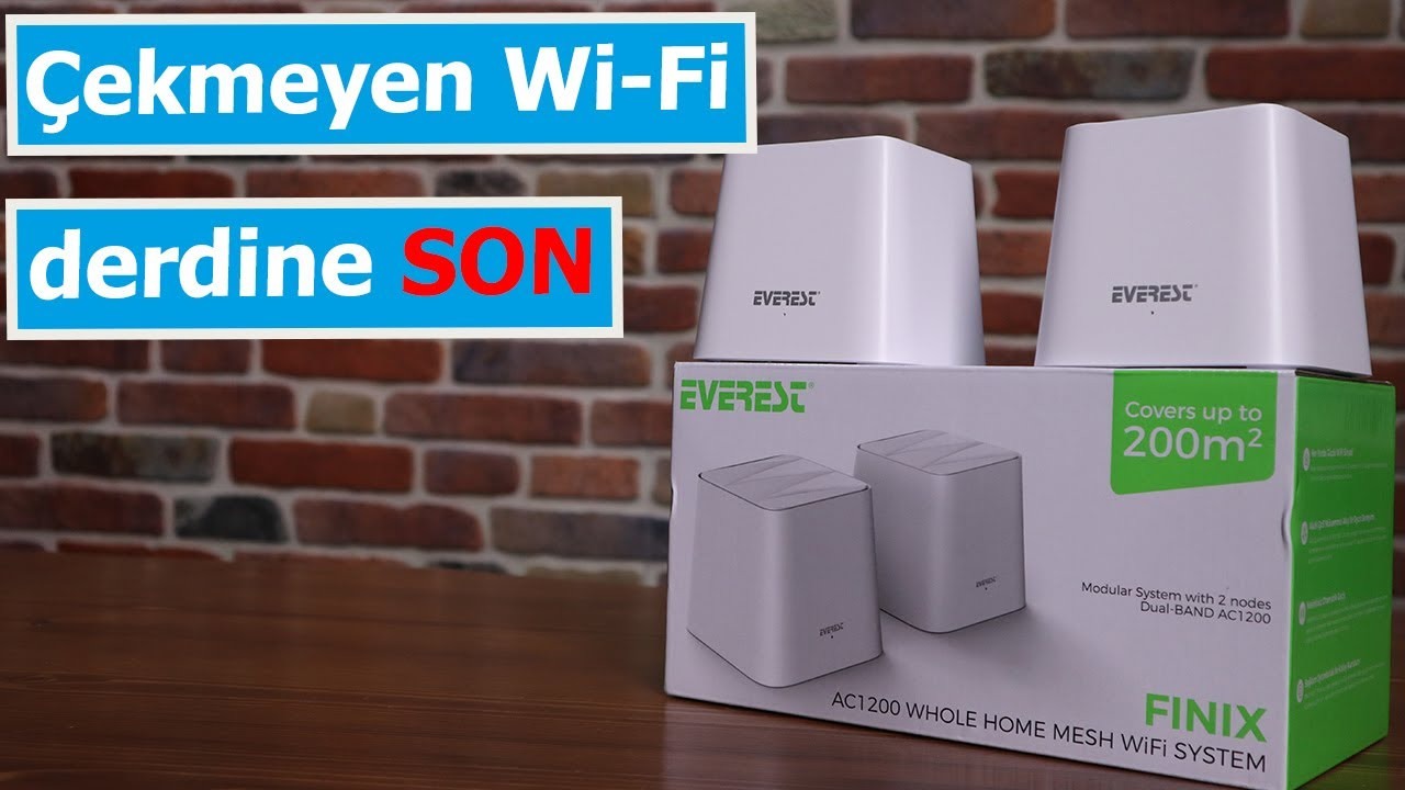 Evde çekmeyen internet sorununa ekonomik çözüm geldi: Everest FINIX MW3-2P