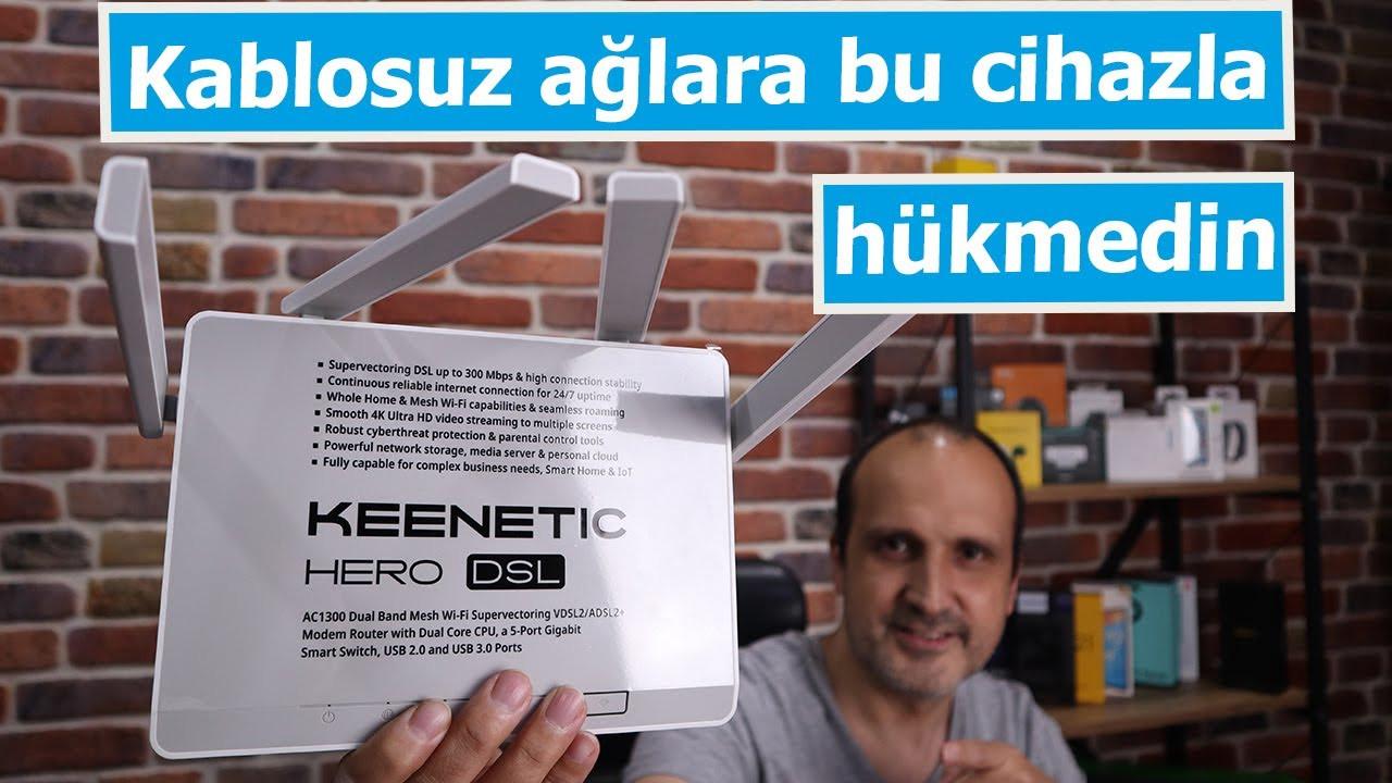 Kablosuz ağlara bu cihazla hükmedin: Keenetic Hero DSL AC1300