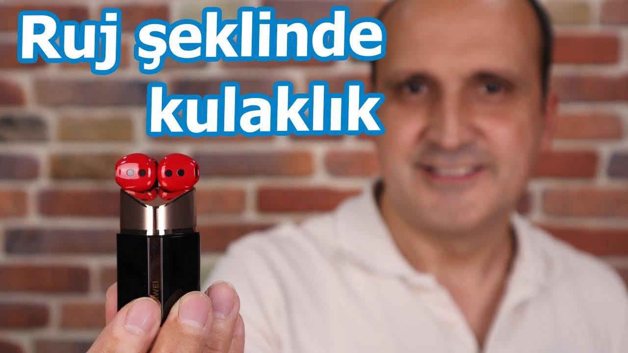 Ruj şeklinde kulaklık kutudan çıkıyor: Huawei FreeBuds Lipstick