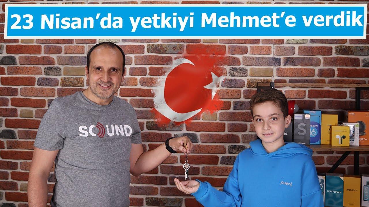 23 Nisan'da koltuğu Mehmet Kaan'a bıraktık! 23 Nisan Ulusal Egemenlik ve Çocuk Bayramı kutlu olsun!