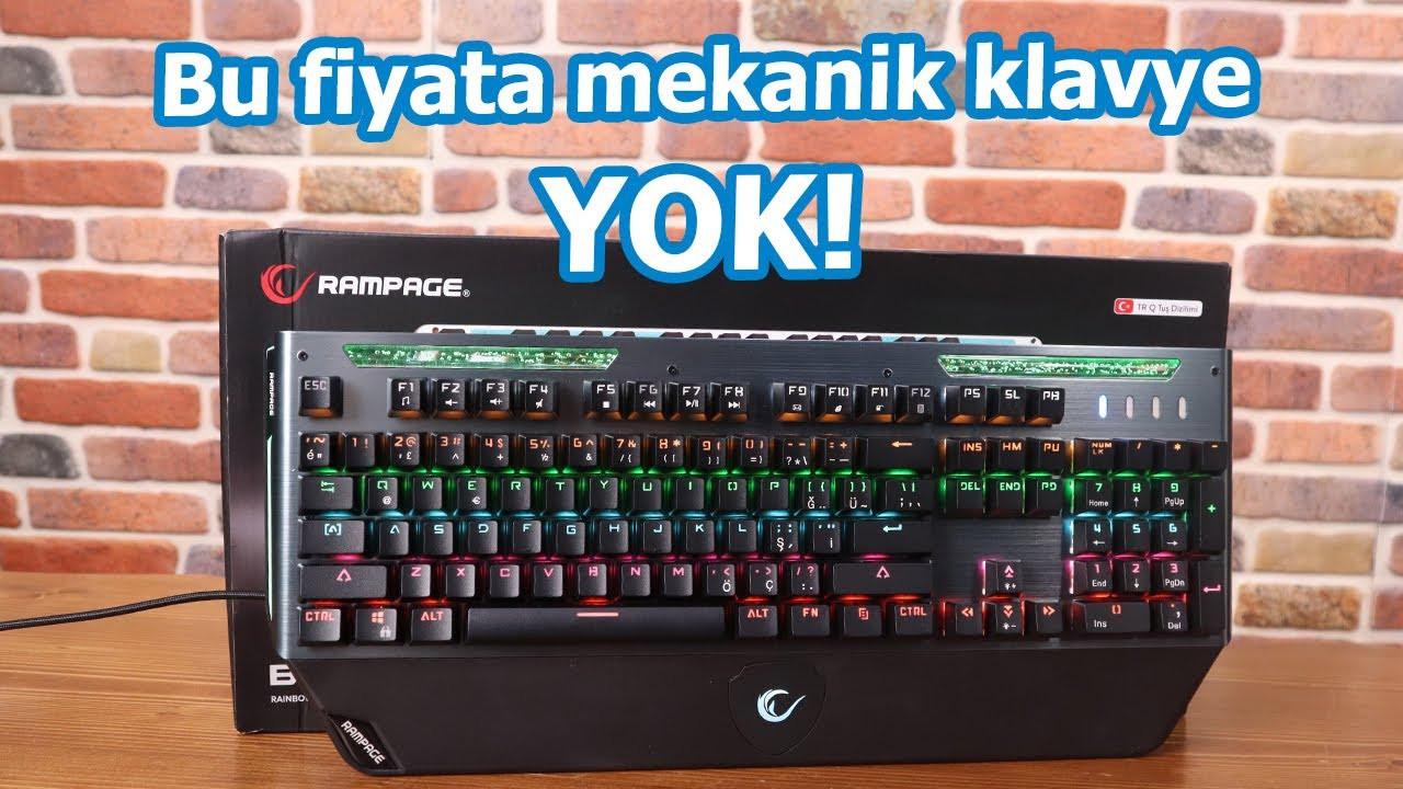 Bu fiyata böyle klavye bulamazsınız! Rampage Bulwark mekanik klavye!